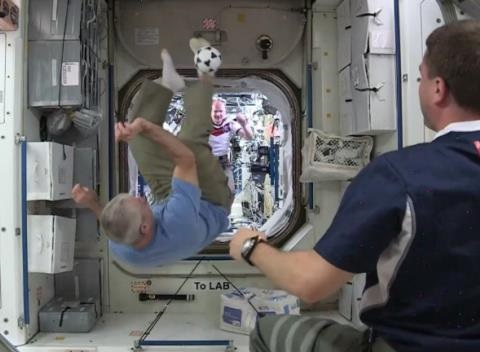 News video: Astronauts Play Soccer on the International Space Station